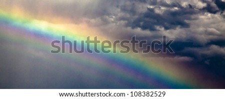 Rainbow in a stormy Sky