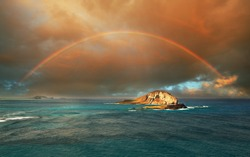 rainbow in Hawaii island