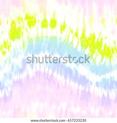 Rainbow Ink Tie Dye Washed Fabric Print