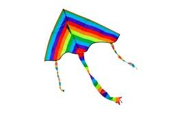 Rainbow kite on a white background