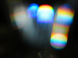 Rainbow light leak, abstract bakground