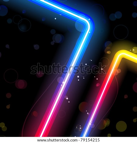 Rainbow  Lines Background with Sparkles and Swirls.