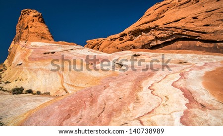 Rainbow Mountain - stock photo