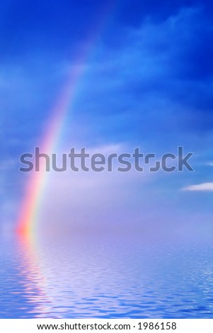 rainbow on a sea