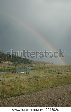 Rainbow over the Madison River