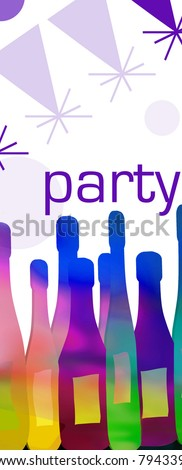 rainbow party time background