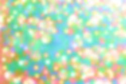 Rainbow pastel glitter background, lens bokeh effect, colorful spot backdrop, blur bubble banner, abstract pastel circle dot scene.