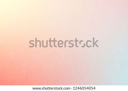 Rainbow pastel gradient background with watercolor paper texture, with Cream Yellow, Millenial Pink, Red, Columbia Blue colors