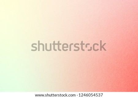 Rainbow pastel gradient background with watercolor paper texture, with Cream Yellow, Millenial Pink, Nyanza Green, Red colors