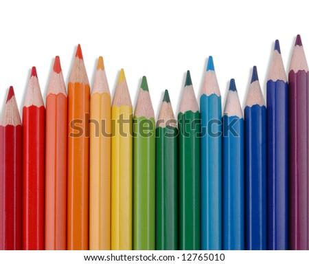 Rainbow Pencils - stock photo