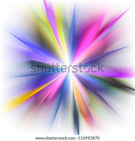 Rainbow rays on white background. Abstract background.