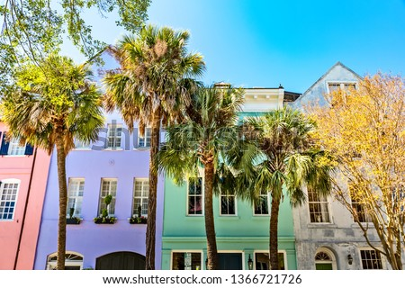 Rainbow Row, Charleston SC #1366721726