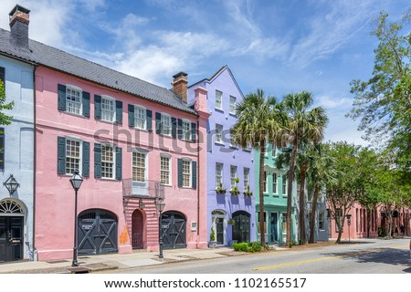 Rainbow Row Charleston South Carolina #1102165517