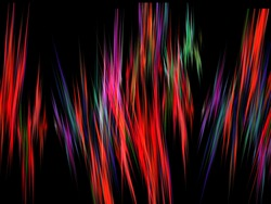 Rainbow scribble fractal abstract background