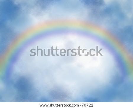 Rainbow sky.
