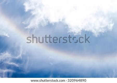 Rainbow sky clouds