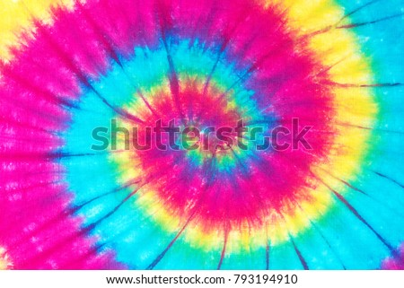 rainbow spiral tie dye pattern abstract background. #793194910