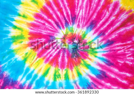 rainbow spiral tie dye pattern background. #361892330