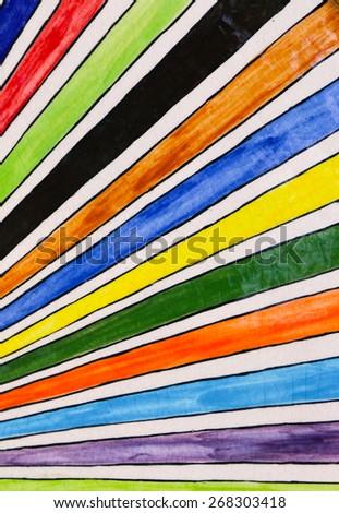 rainbow splash, rainbow paint on ceramic