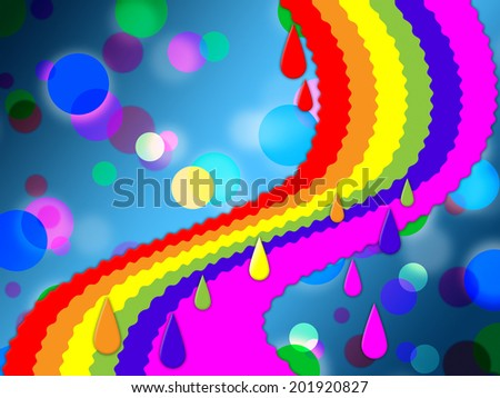 Rainbow Spots Background Meaning Painted And Dotted