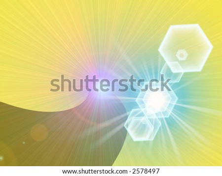 Rainbow star Design Abstract