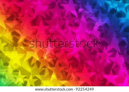 rainbow stars. Star shapes on a multicolored background
