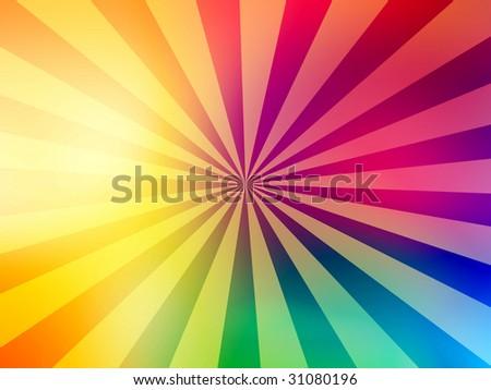 Rainbow Sun Background