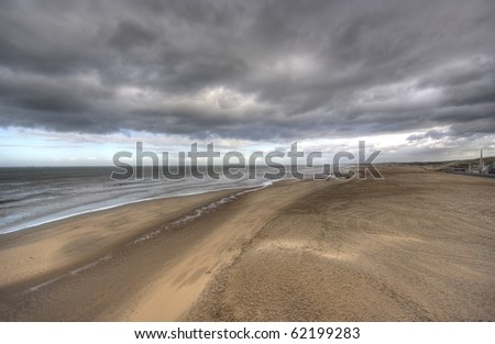Rainclouds over the coast of Holland