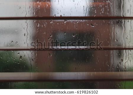 Raindrop on the window. #619826102