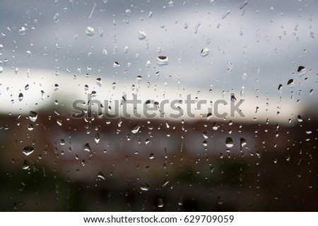 Raindrops against the window #629709059