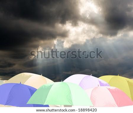Raindrops are falling