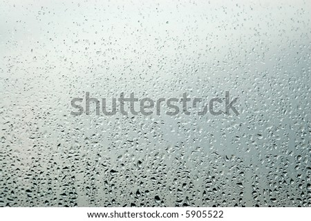 Raindrops on a window - autumn is here #5905522