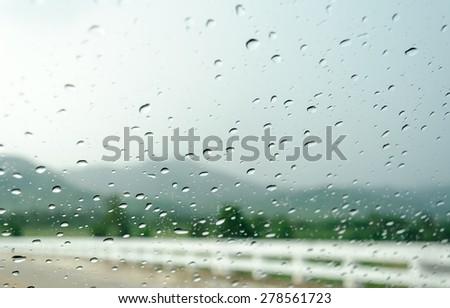 raindrops on auto glass