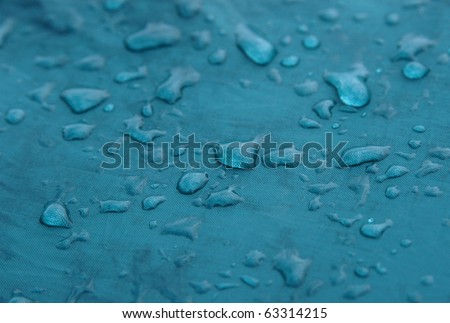 Raindrops on the green tent