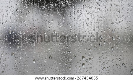 Raindrops on the window, abstract background  #267454055