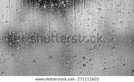 Raindrops on the window, abstract background  #271112603