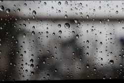 raindrops on the window glass