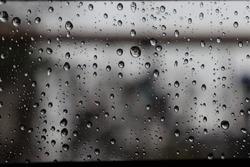 raindrops on the window glass