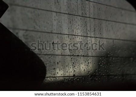 raindrops on window #1153854631
