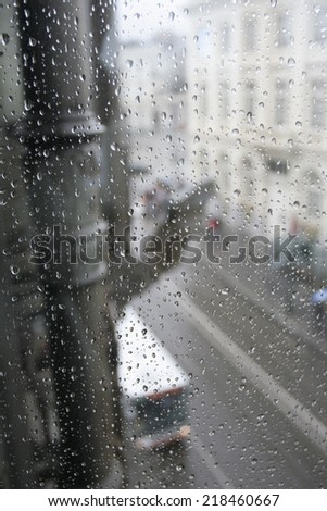 Raindrops on window #218460667