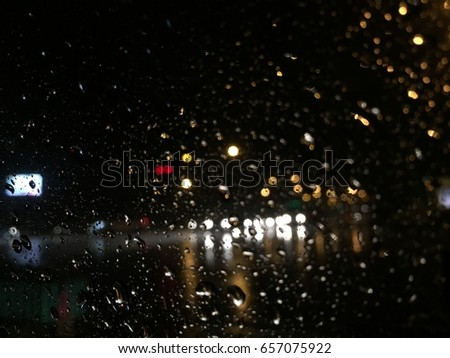 raindrops on window #657075922