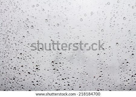 raindrops on window glass #218184700