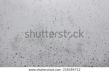 raindrops on window glass #218184712