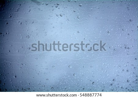 raindrops windowpane