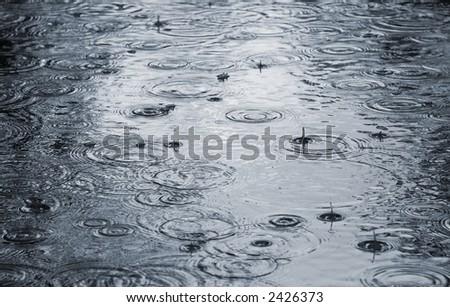 Raining.
