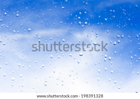 Rainsdrops on a window
