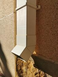 rainwater white plastic drain pipe