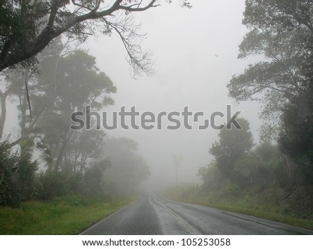 Rainy day on a Country Road