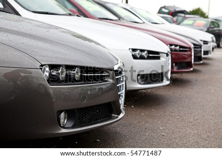 Rainy day on the car sale