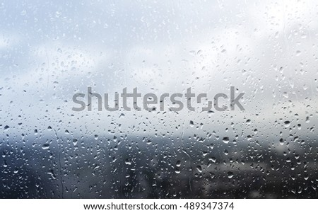 Rainy day toned background image with copy space #489347374